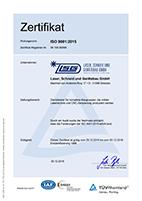 LSG TÜV ISO 9001-2015