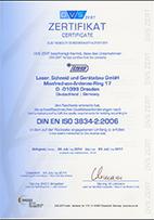 QM System Zertifizierung Schweißen nach DIN EN ISO 3834-2 2006